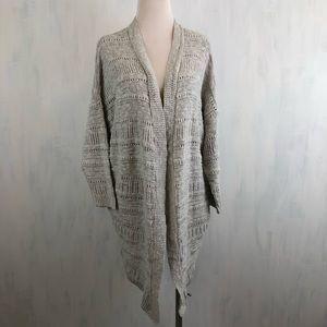 UO Ecote Open Knit Oversized Cardigan M